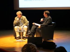 Philippe Aigrain, à gauche, a abondamment expliqué les problématiques liées au droit d'auteur et au partage.